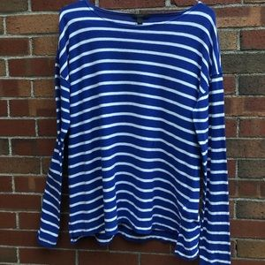 J Crew bland and white striped sweater